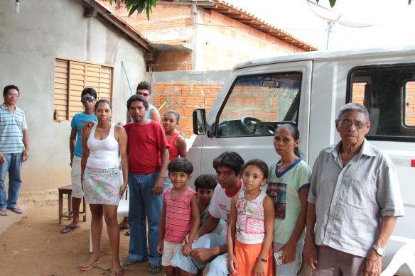 Sr. Antonio, cacique Leda e família. Foto: Joalva Moraes