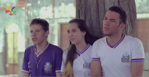 David Gabriel, Ana Karolina e Denis Santos