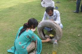 pneu com agua parada