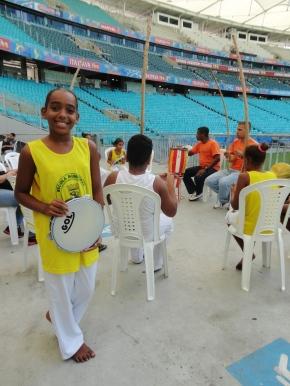 Camila Vasconcelos na Roda de Capoeira. Foto: Bira Mendes