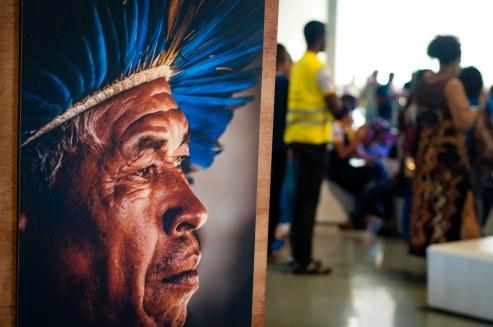 Uma das telas expostas na II Mostra Faces da Escola. Foto: Peterson Azevedo