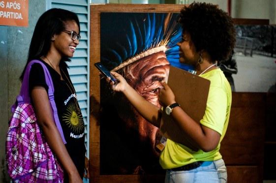 Jesiana Silva fala de suasimpressões sobre a II Mostra.Foto: Peterson Azevedo