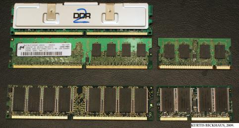 Fig.1- Alguns tipos de memórias RAM - By KB Alpha - CC BY 3.0