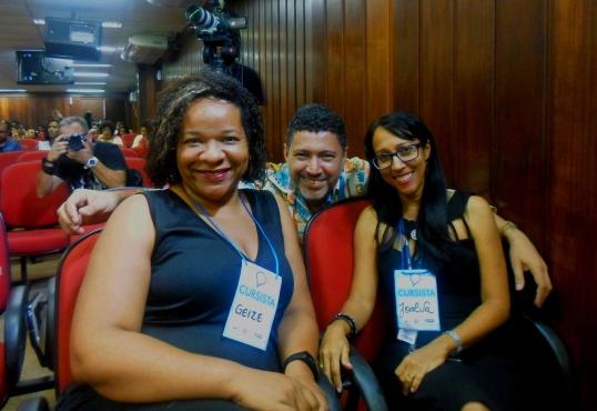 Fig 1: Geize Gonçalves, Joalva Moraes, Carlos Barros Foto: Carol Aguiar