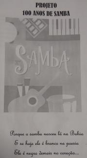 Fig.1 : Capa do Projeto Cem Anos de Samba.Foto cedida pelo CEAAT.