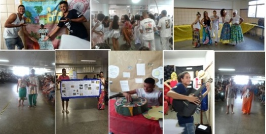 Fig.2 : Apresentações do projeto Cem Anos de Samba. Imagens cedidas pelos professores do CEAAT.